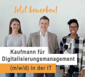 Banner Recruiting Kaufmann Digitalisierungsmanagement