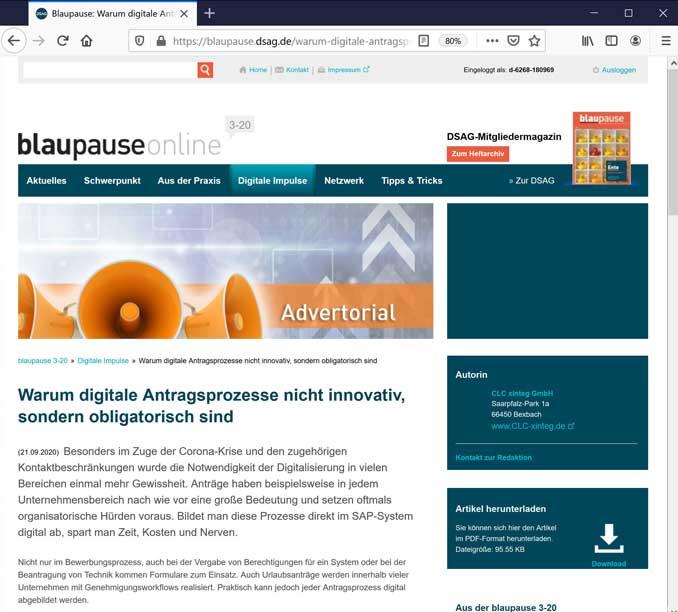 Screenshot blueprint online Start2 web
